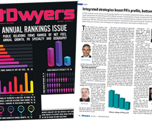 Bob Gold & Associates Ranks 13 on O'Dwyer's 2018 Top LA PR Firms
