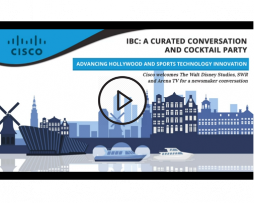 SVG On Demand: Advancing Hollywood and Sports Tech Innovation – A SVG Panel Conversation with Cisco