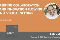 Keeping Collaboration and Innovation Flowing in a Virtual Setting – a Performance Delivered Podcast
