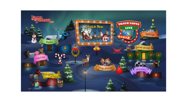 Family-friendly Holiday Favorite, Santa Tracker, Powered by