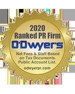 2020 Ranked PR Firms O'Dwyer's